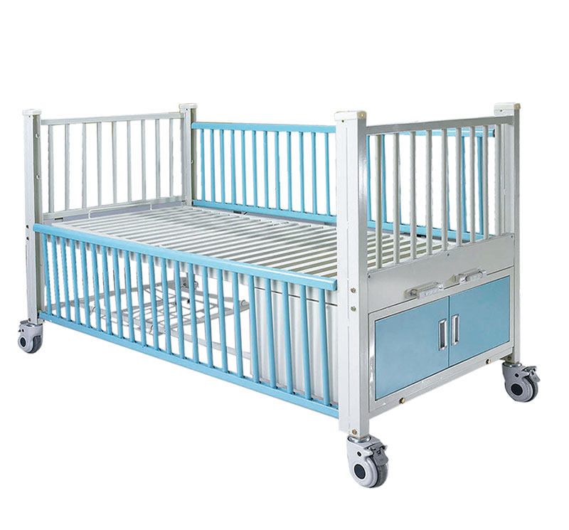 YA-PM2-2 医用儿童病床带柜子