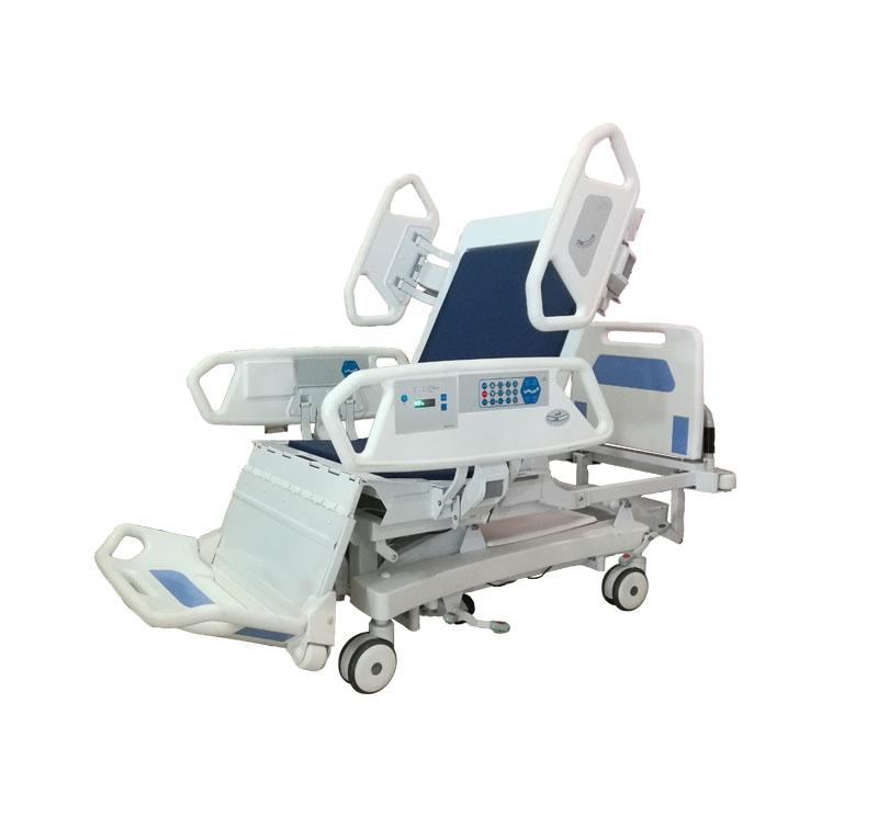 经过三年的研究和测试,研制成功了一种新型的ICU全椅床。