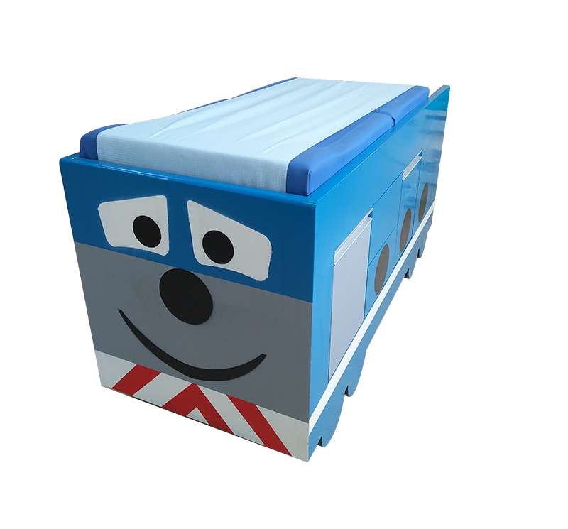 YA-EC-B03 蓝色小汽车儿科检查床