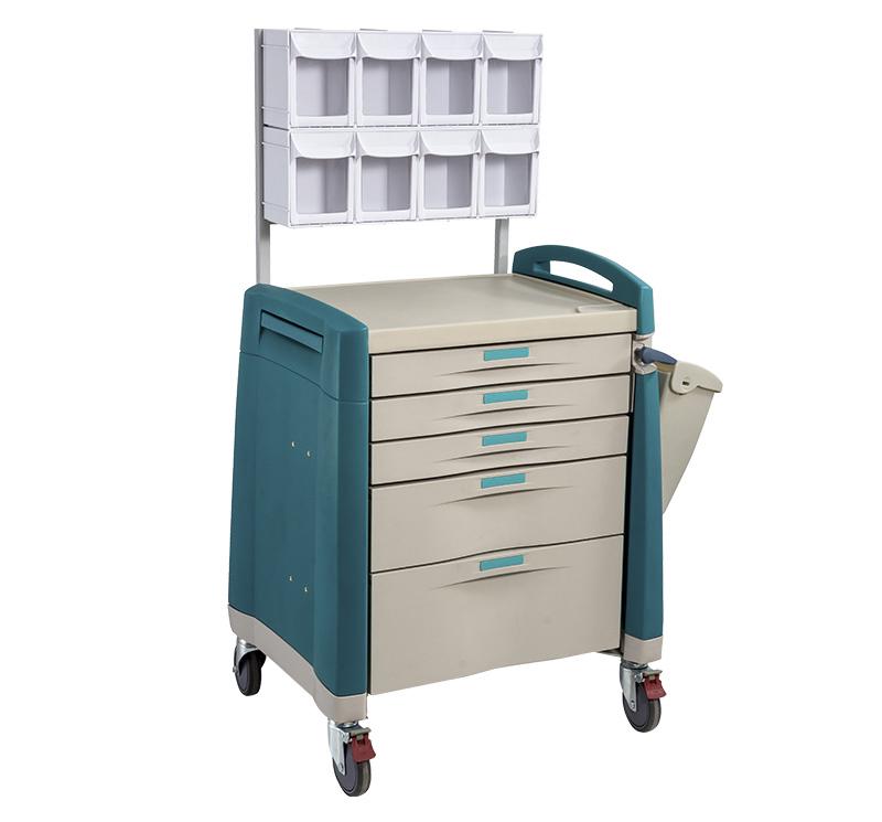 MK-P07 Carro de anestesia para medicamentos con cajón con papelera